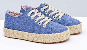chaussure tissu bleu