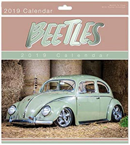 beetles vintage retro calendrier 2019