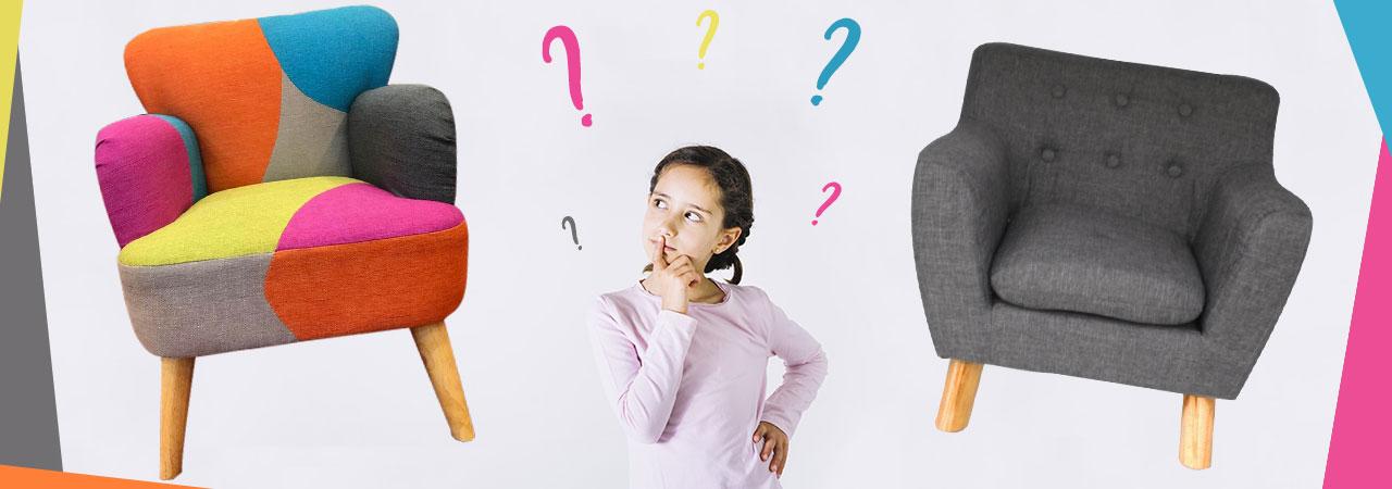 Fauteuils pour enfants au design scandinave - Nozarrivages