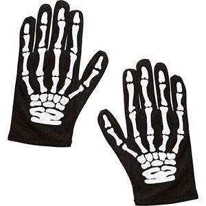 gants squelette halloween déguisement