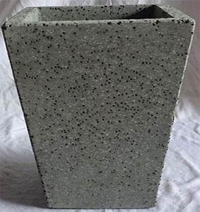 pot gris ciment