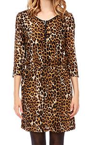 robe léopard imprimé