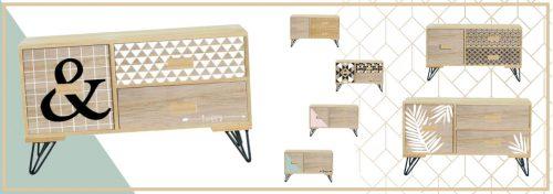 mini meubles à tiroirs sur pieds