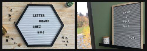 tableaux à messages letter board