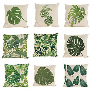 coussin tropical jungle