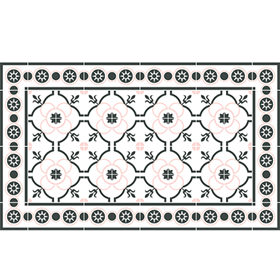 tapis en vinyle carreaux de ciment