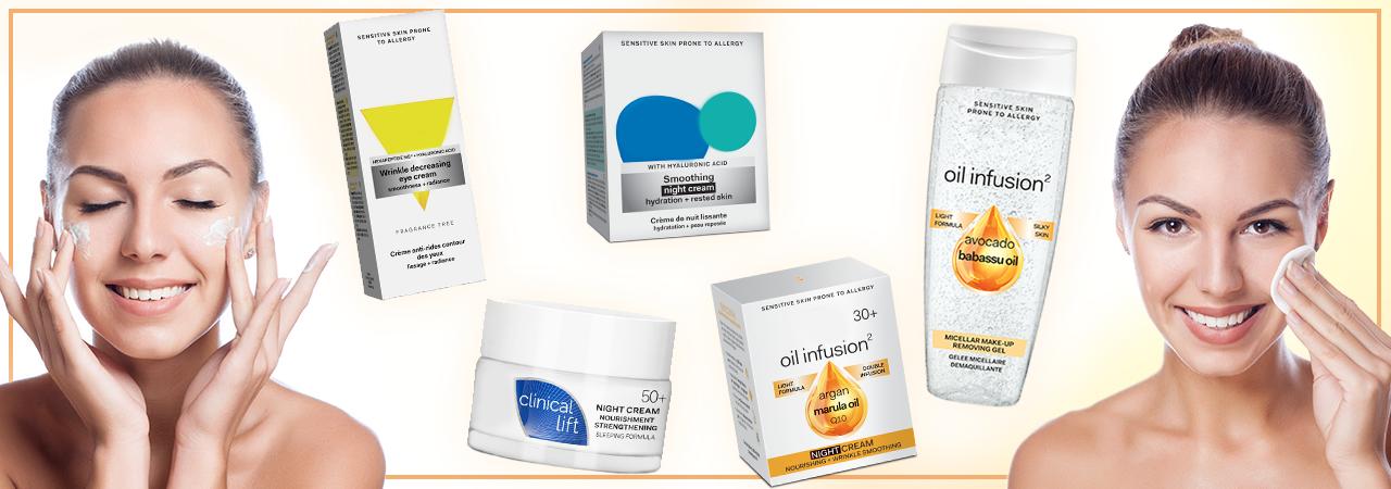 crèmes et soins cosmétiques pour visage