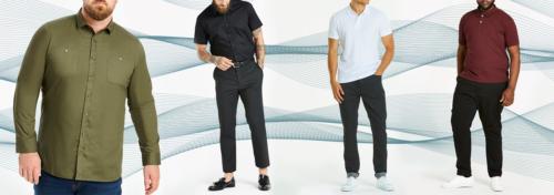 Vêtements grandes tailles pour hommes