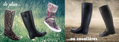 bottes de pluie ou cavalières
