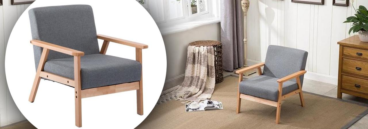 fauteuils relax en tissu et bois