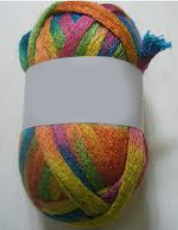 fil à tricoter arc en ciel