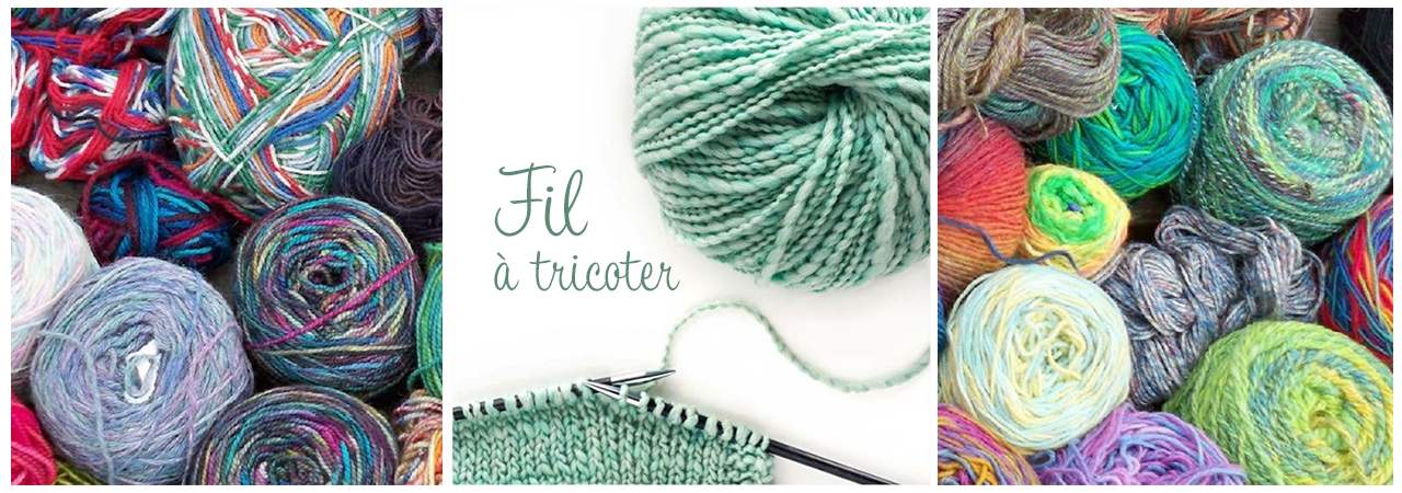 fil à tricoter fantaisie