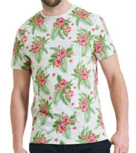 t-shirt motif tropical homme