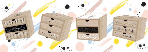 boîte à tiroirs en bois