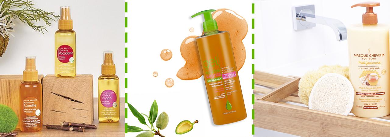 produits d'hygiène pour le corps et les cheveux