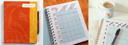 agendas, planners, notebooks