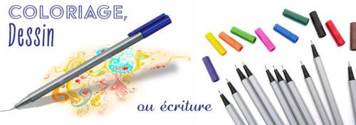 set de crayons à pointe fine