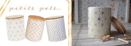 Pot en céramique et bamboo