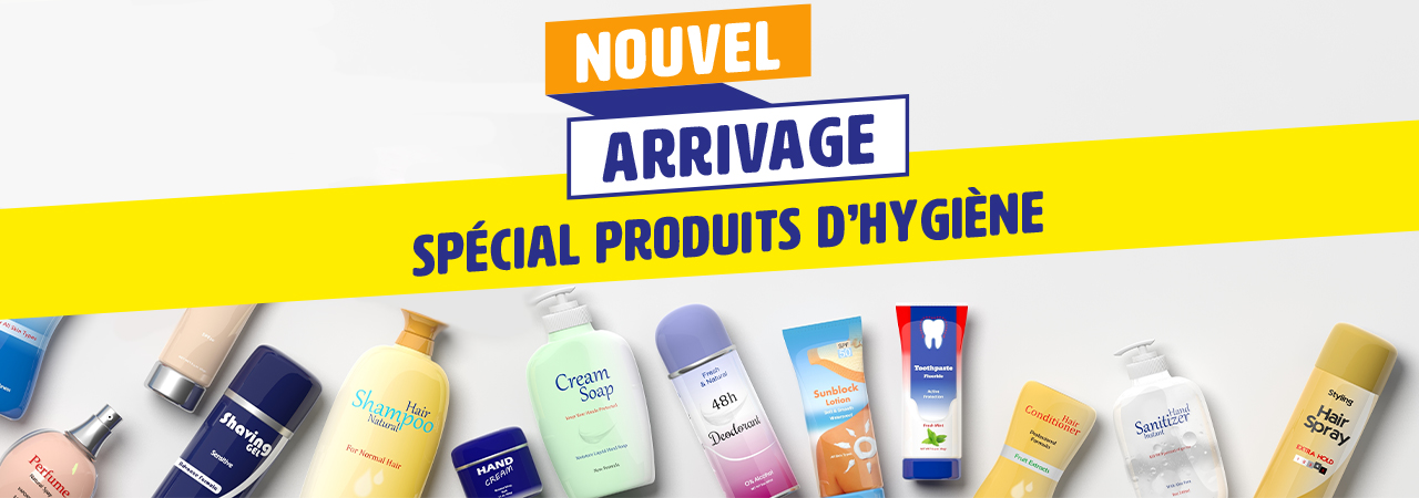 Arrivage de produits d'hygiène
