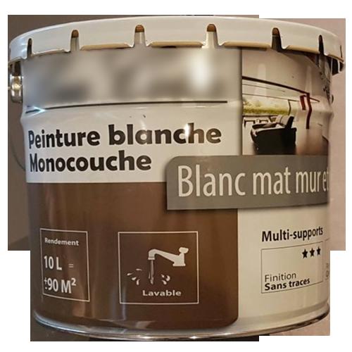 PEINTURE BLANCHE MONOCOUCHE